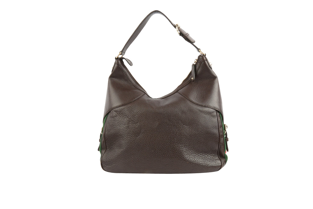 Horsebit Hobo Tote Handbag-Washed And Found