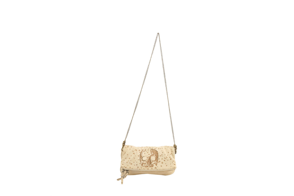 Beige Flap Crossbody-Washed And Found