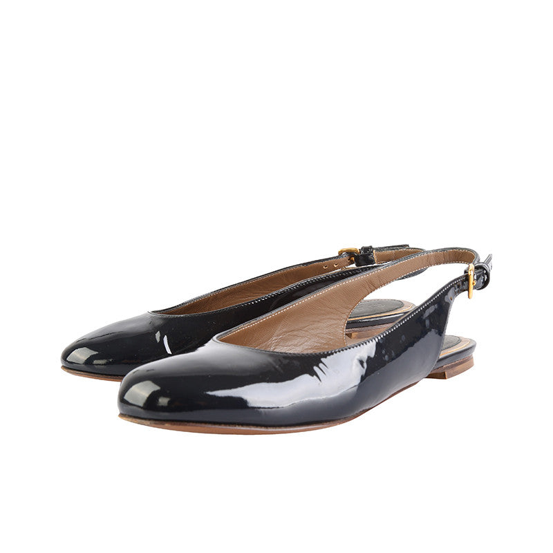 Patent slingback flats-Washed And Found