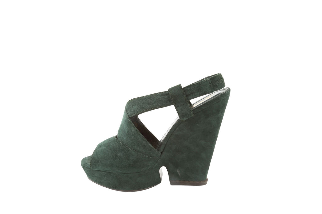 Suede Platform Wedges-Washed And Found