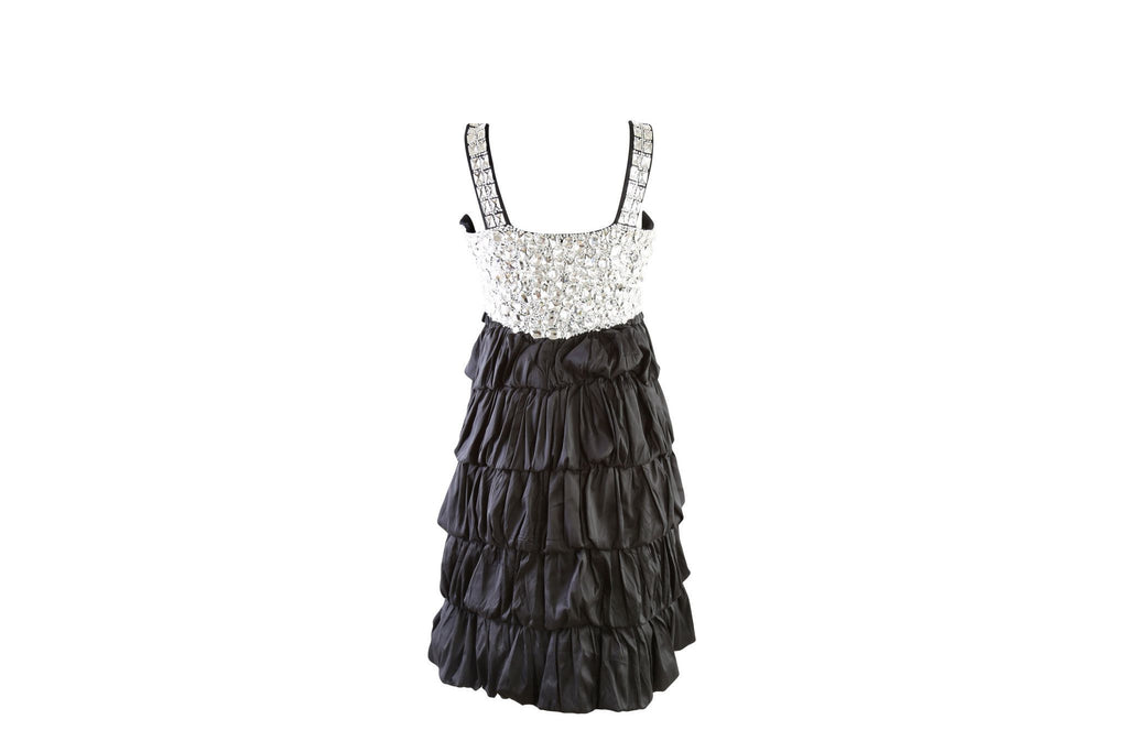 Puffy Embellished Dress-Washed And Found