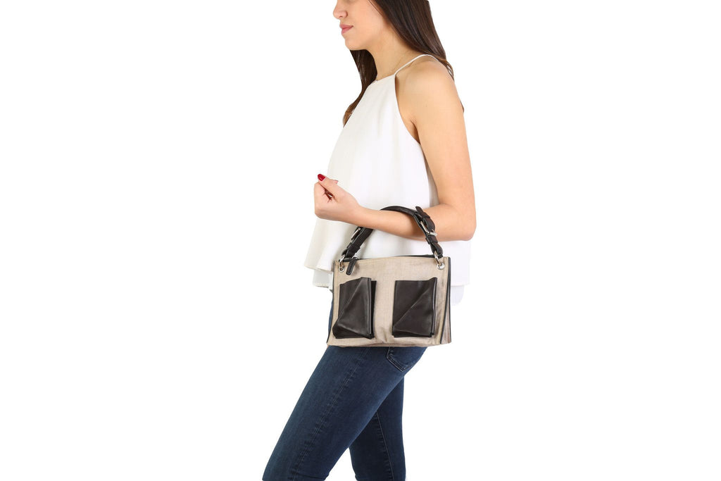 Bicolor shoulder bag-Washed And Found