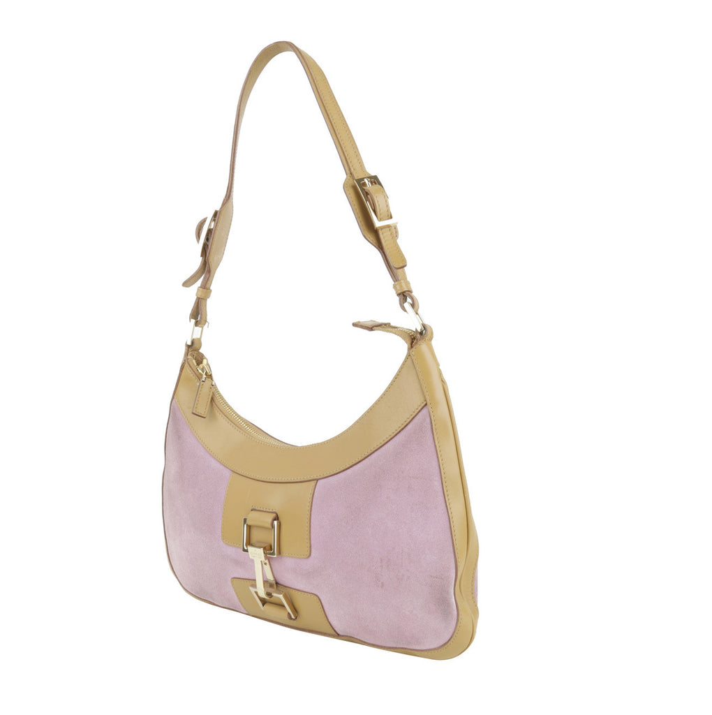 Jackie signature horsebit buckle hand bag-Washed And Found