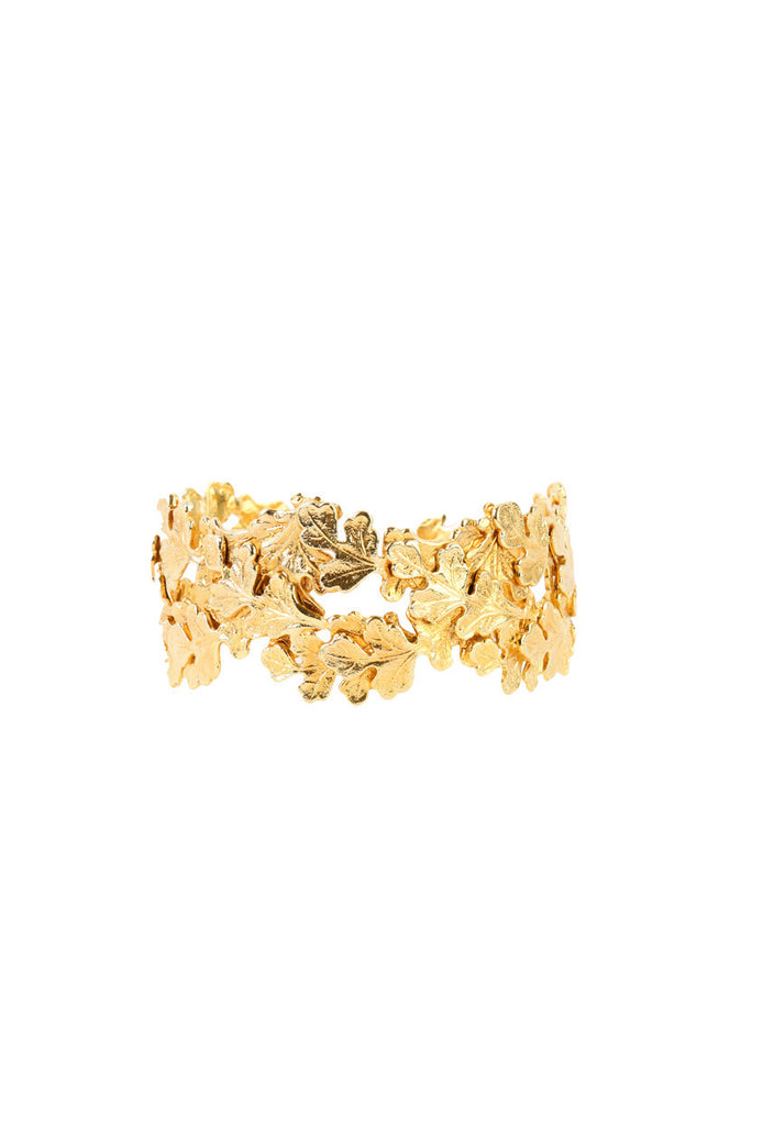 Gold Leaf Flexible Bracelet-Washed And Found