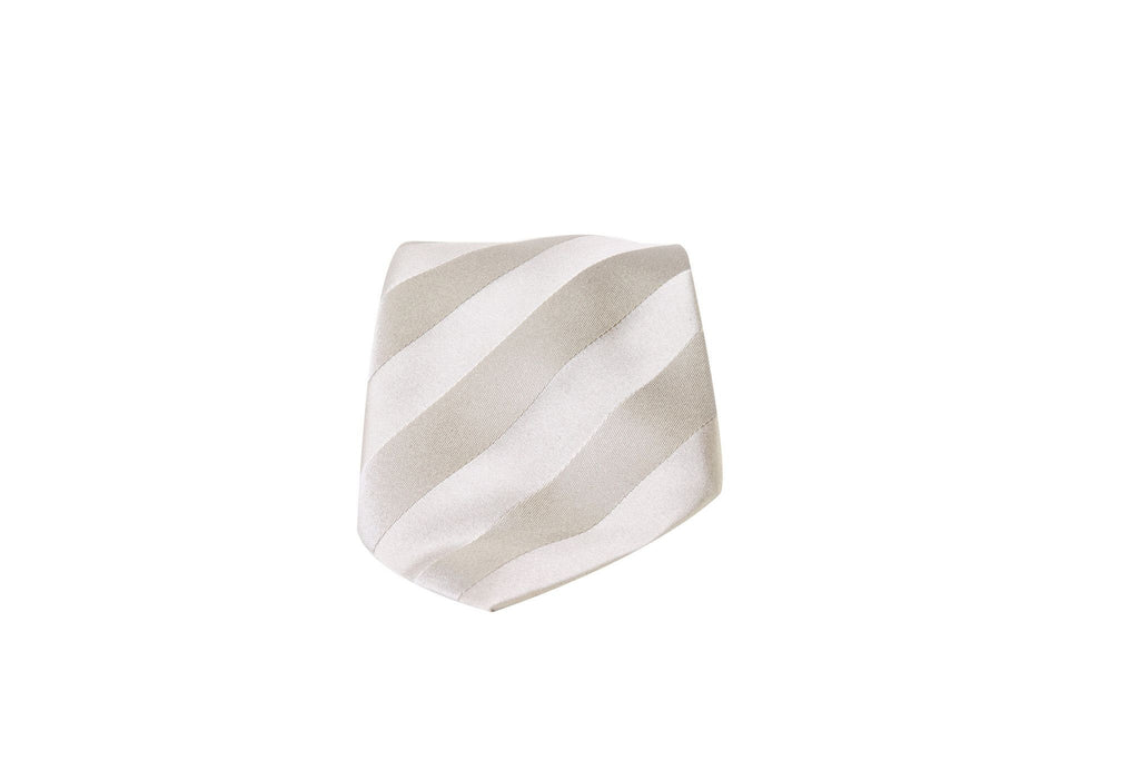 Diagonal Stripes Silk Tie-Washed And Found