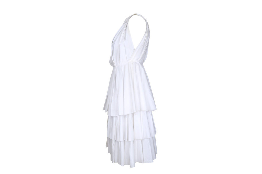 White Layered Dress-Washed And Found