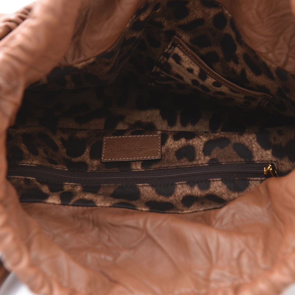 Crinkled leather bag-Washed And Found