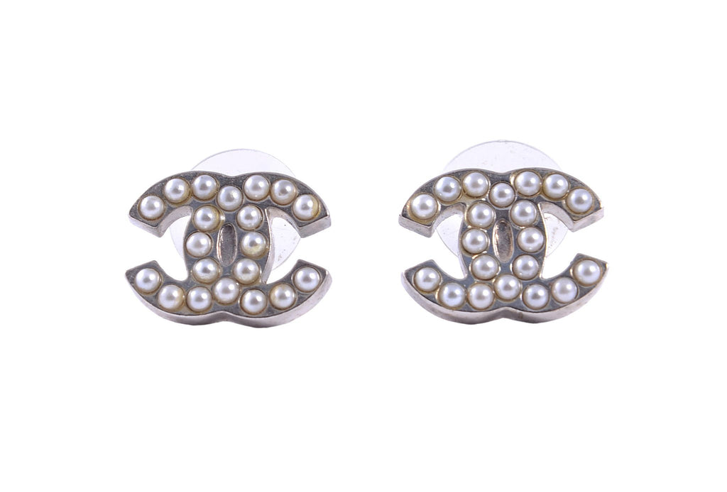 Pearl embellished studs-Washed And Found