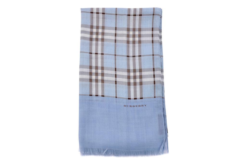 Light baby blue wool scarf-Washed And Found