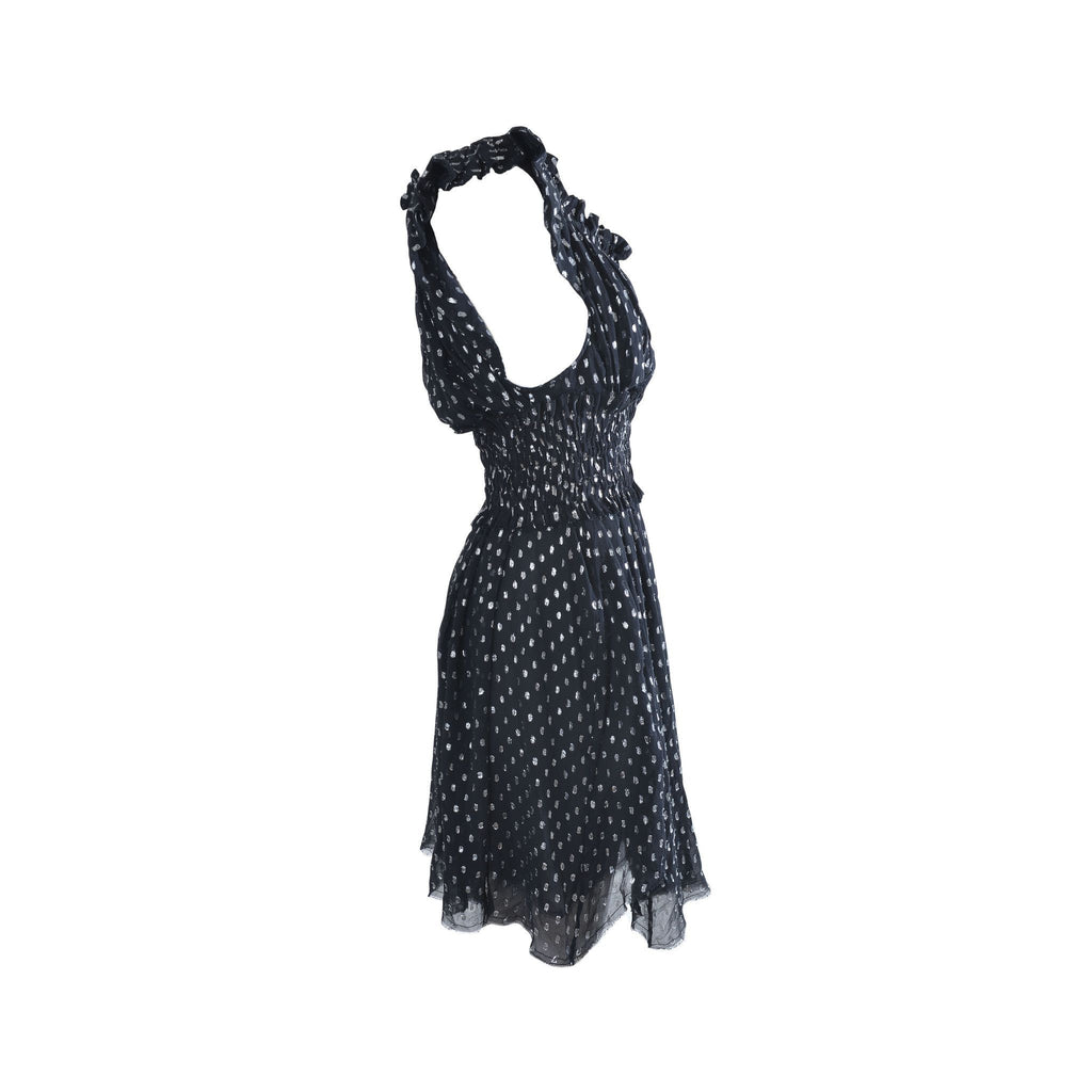 Notched black summer dress - Clothing -  Authentic Isabel Marant Etoile - Washed and Found - 5