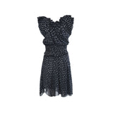 Notched black summer dress - Clothing -  Authentic Isabel Marant Etoile - Washed and Found - 3