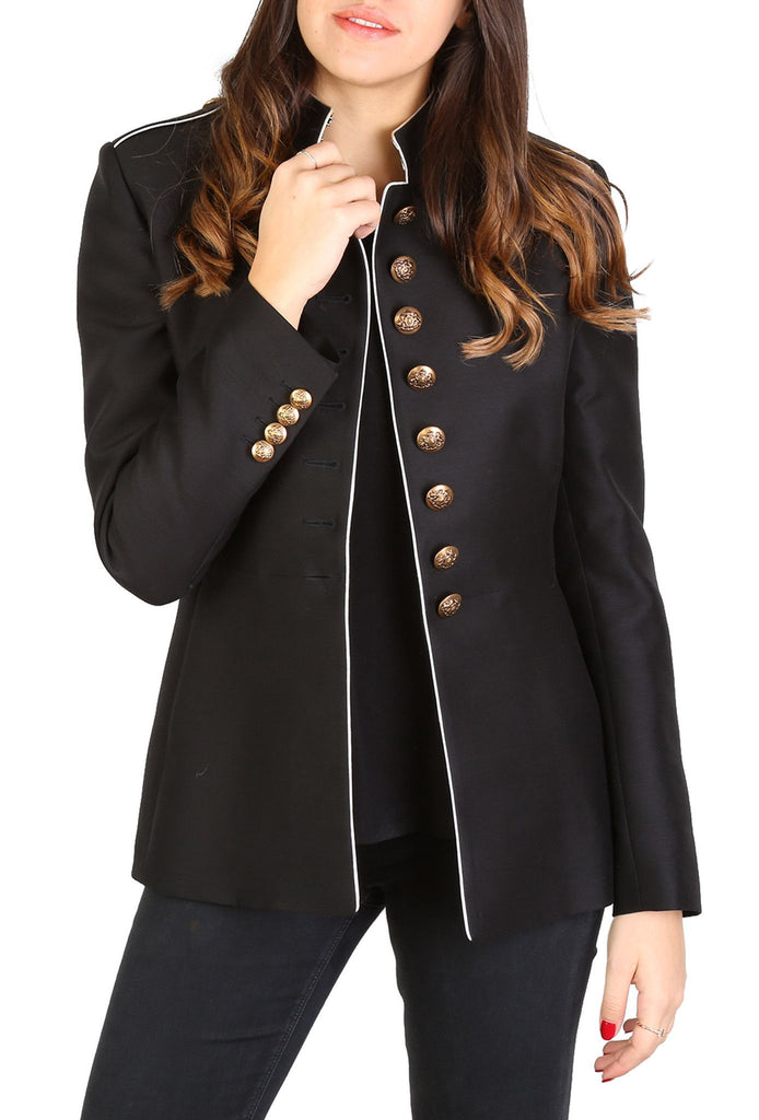 Structured Black Blazer-Washed And Found