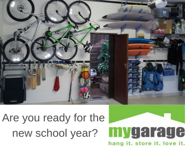 Get your garage organised so you can grab and go before School
