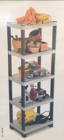 Floor standing 5 shelf modular shelves