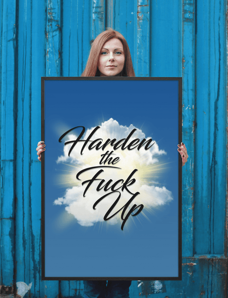 HTFU Framed Motivational poster
