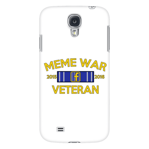Meme War Veteran Phone Case WHITE