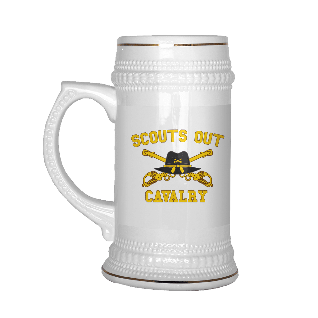 Cavalry Scouts Out Beer Stein   ASMDSS Gear   Cavalry Scout Gear