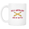 Artillery King of Battle Mug WHITE