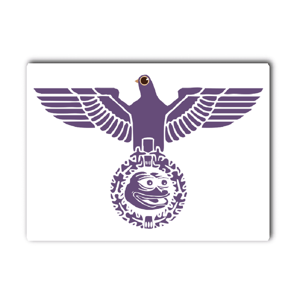Trash Dove Pepe Vinyl Decal