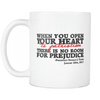 Trump Patriotism Not Prejudice Mug WHITE