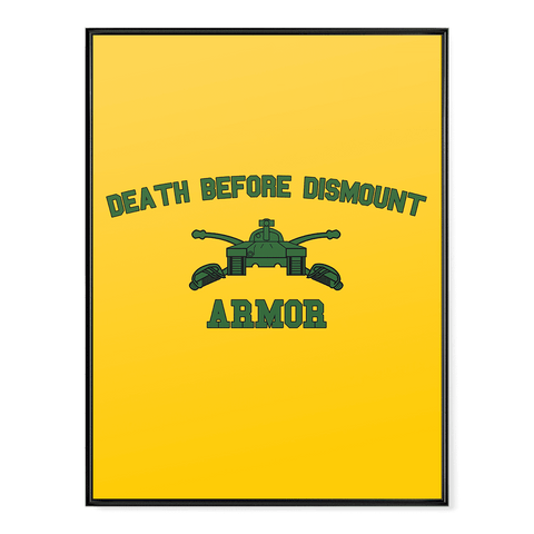 Armor Death Before Dismount Poster