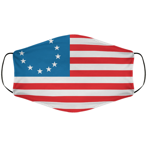 Betsy Ross Flag Face Cover