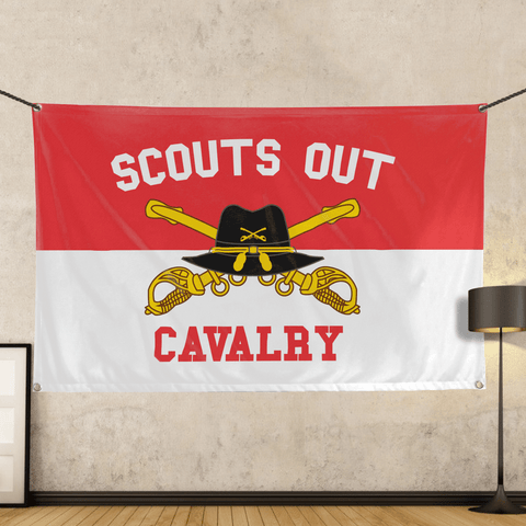 Cavalry Scouts Out Flag - Wall Flag