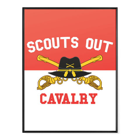 Cavalry Scouts Out Poster