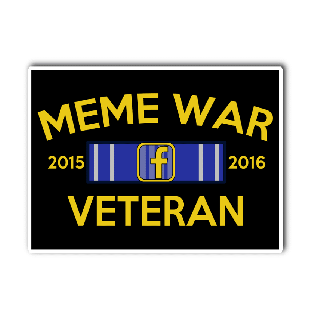 Meme War Veteran Vinyl Decal BLACK