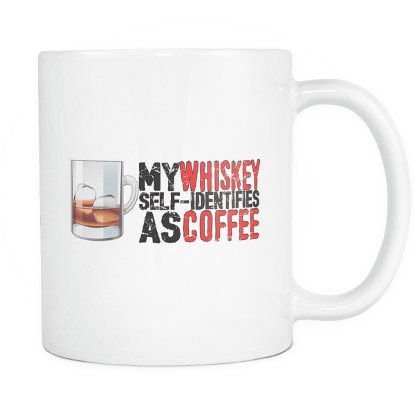 Whiskey Identifies as Coffee Mug WHITE