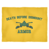 Armor Death Before Dismount Fleece Blanket