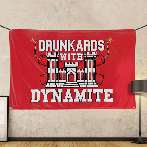 Drunkards With Dynamite - Wall Flag