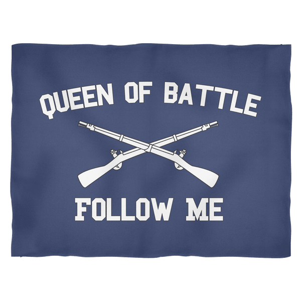 Infantry Queen of Battle Fleece Blanket