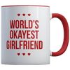 World's Okayest Girlfriend - Coffee Mug