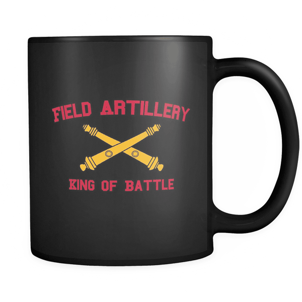 Artillery King of Battle Mug BLACK
