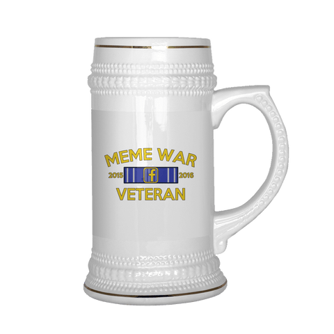 Meme War Veteran Beer Stein