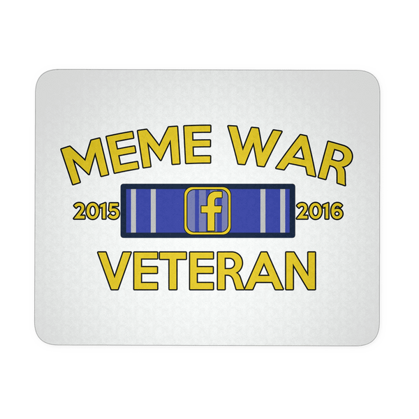 Meme War Veteran Mouse Pad WHITE