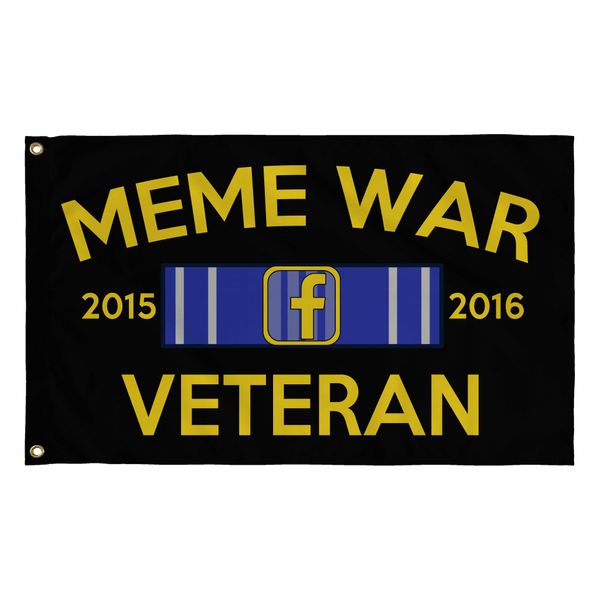 Meme War Veteran Flag BLACK