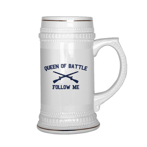 Infantry Queen of Battle Beer Stein