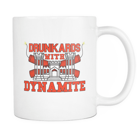 Drunkards With Dynamite Mug WHITE