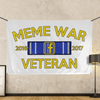 Meme War Veteran  - Wall Flag WHITE