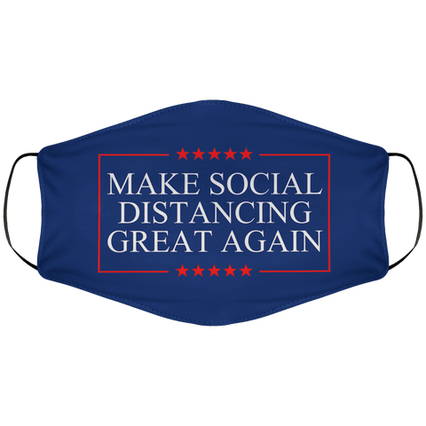 Make Social Distancing Great Again Face Cover