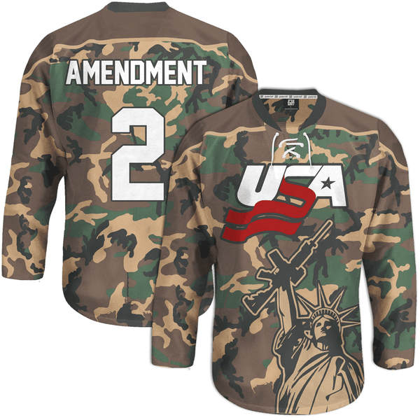 Camo 2nd Amendment Hockey Jersey