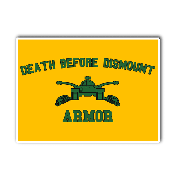 Armor Death Before Dismount Vinyl Decal
