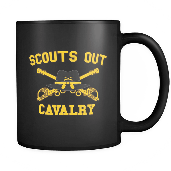 Cavalry Scouts Out Mug BLACK