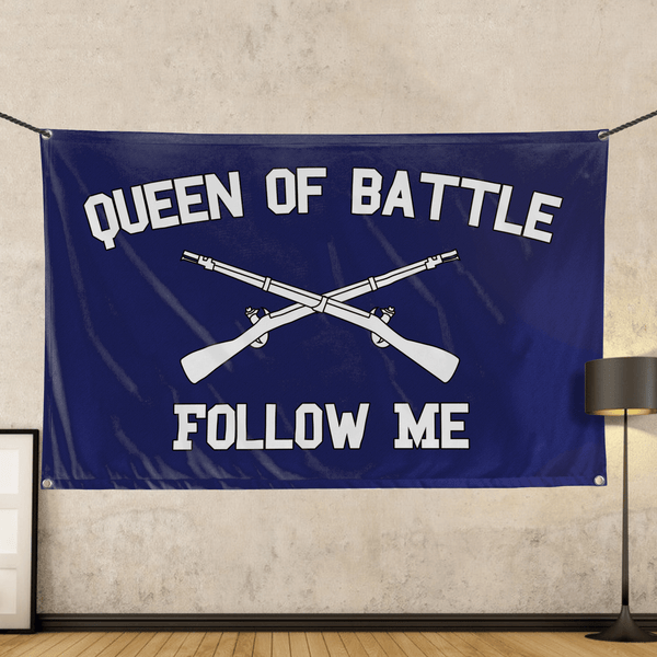 Infantry Queen of Battle - Wall Flag