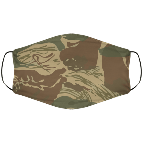 Rhodesian Brushstroke Face Cover