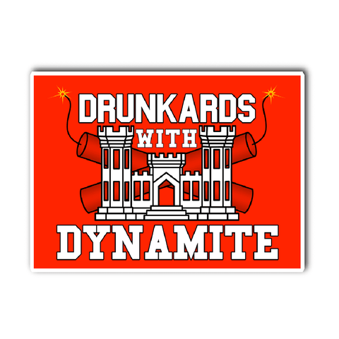Drunkards With Dynamite Vinyl Decal