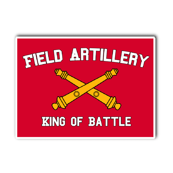 Artillery King of Battle Vinyl Decal