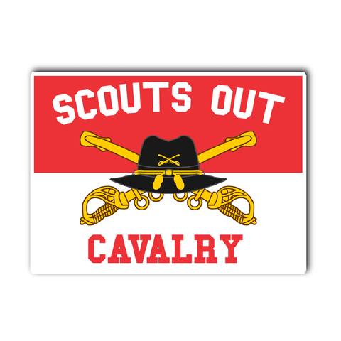 Cavalry Scouts Out Decal